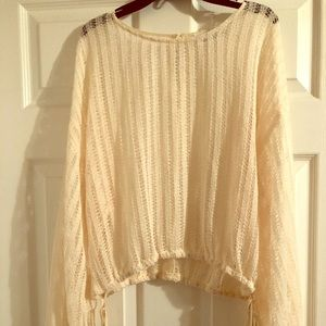 "Buckle ""The Room"" Open Weave Sweater: L"
